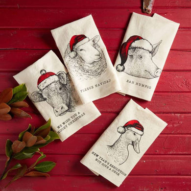 Santa Hat Farmhouse Hand Towel
