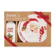 Load image into Gallery viewer, Santa Milk & Cookies Set