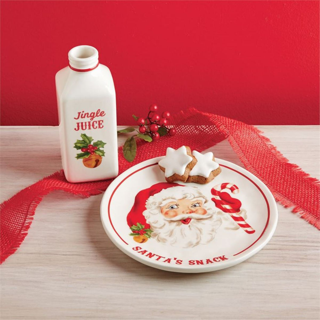 Santa Milk & Cookies Set