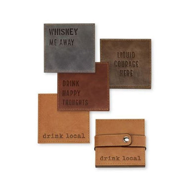 Faux Leather Coaster Set