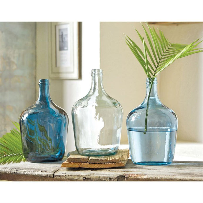 Recycled Spanish Glass Carafe Bottle Vase