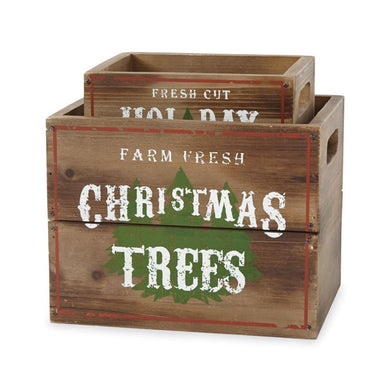 Christmas Tree Crates Set of 2