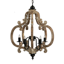 Load image into Gallery viewer, Elegant Distressed Chandelier, Large