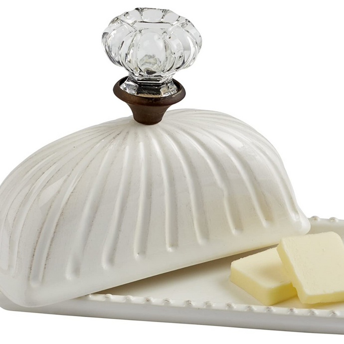 Door Knob Butter Dish by Mud Pie