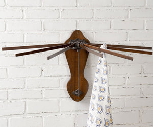 Vintage Wall-Mounted Drying Rack