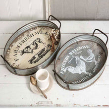 Load image into Gallery viewer, Farmhouse Serving Trays, Set of 2