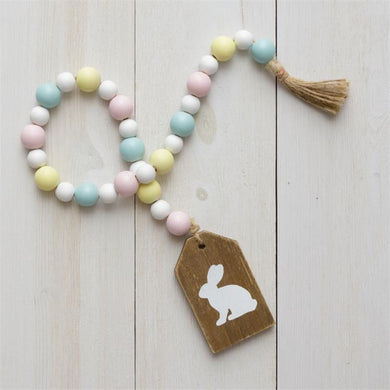 Pastel Beads w/ Bunny Medallion
