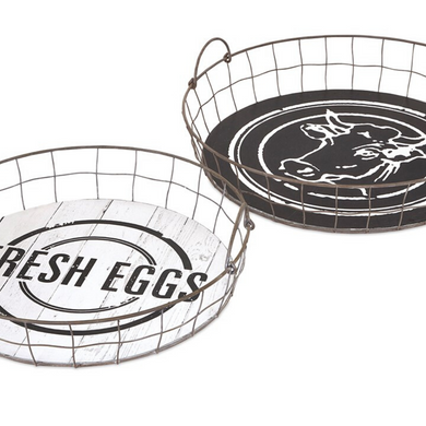 Fresh Egg Trays, Set of 2
