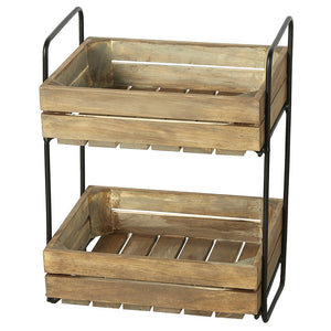 Market Crate 2-tier Stand