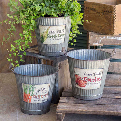Metal Produce Baskets, Set of 3