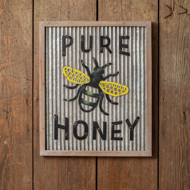 Pure Honey Wall Sign