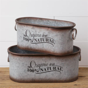 Organic Nesting Tins, Set of 2