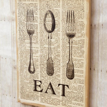Load image into Gallery viewer, Burlap EAT Wall Decor