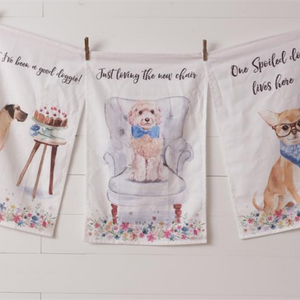 Playful Pups Dish Towels, Set of 3