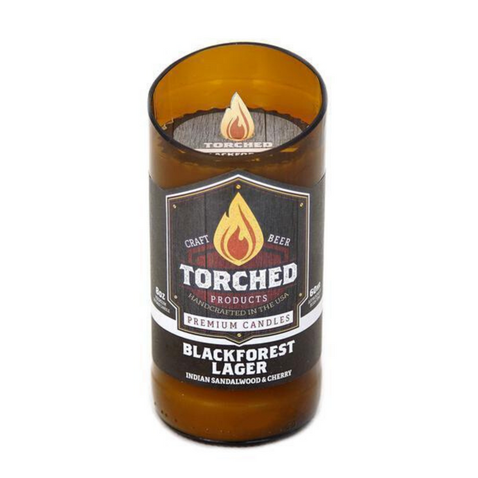 Torched Beer Bottle Candle Blackforest Lager 8 oz