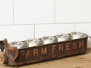 Farm Fresh Pig Votive Holder