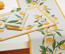 Load image into Gallery viewer, Lemon Zest Placemats S/4