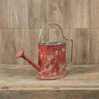 Aged Red Watering Can