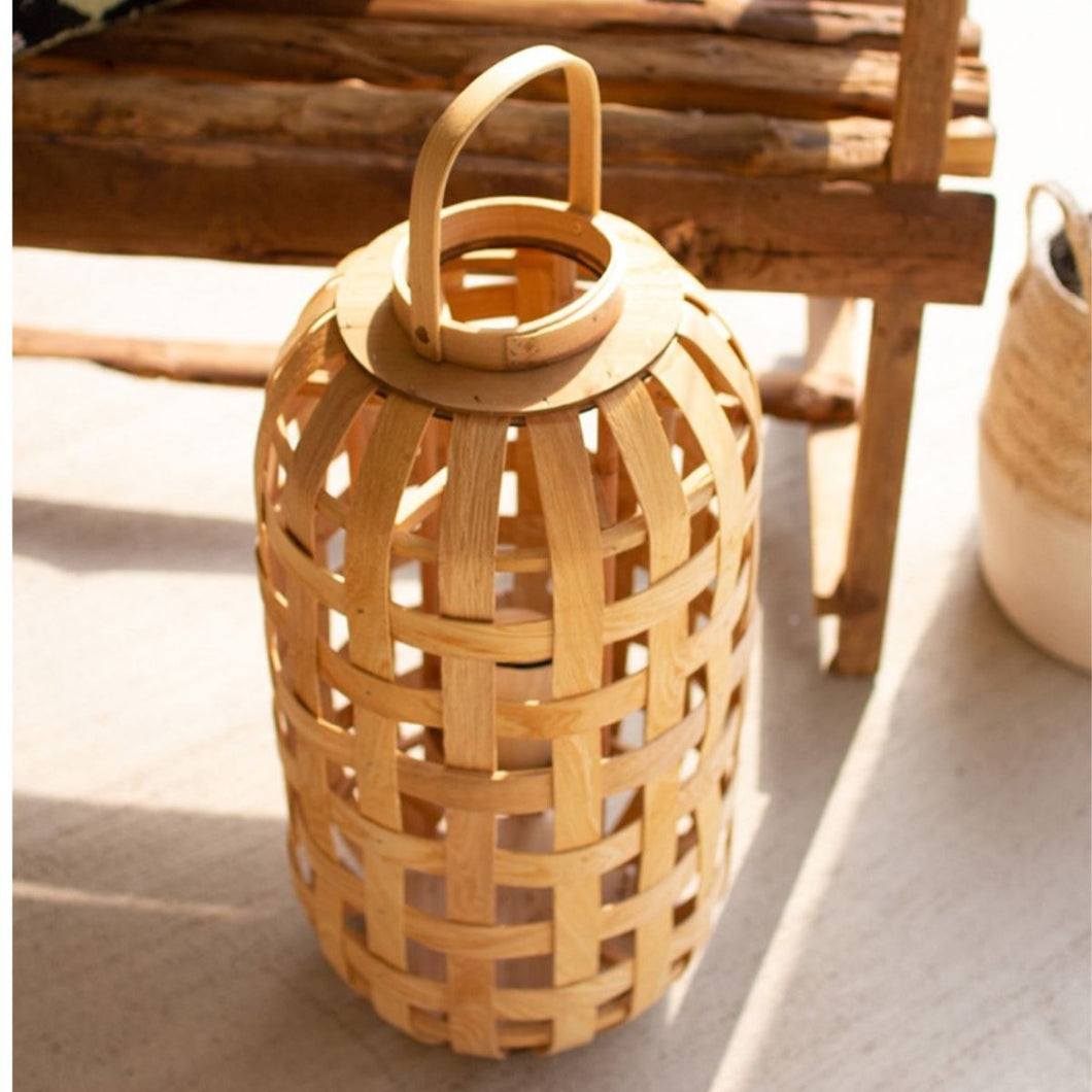 Natural Chipwood Lantern Tall