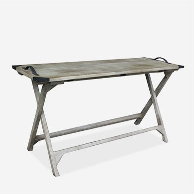Vintage Grey Folding Console Table