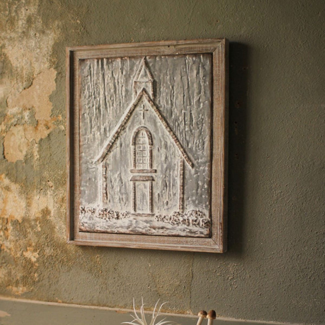Embossed Metal Church Wall Decor