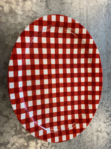 Red Checkered Platter