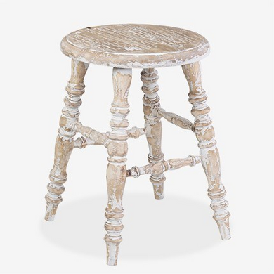 Antiqued Table Stool