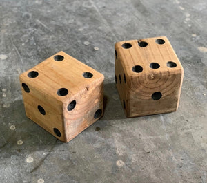 Reclaimed Wood Dice