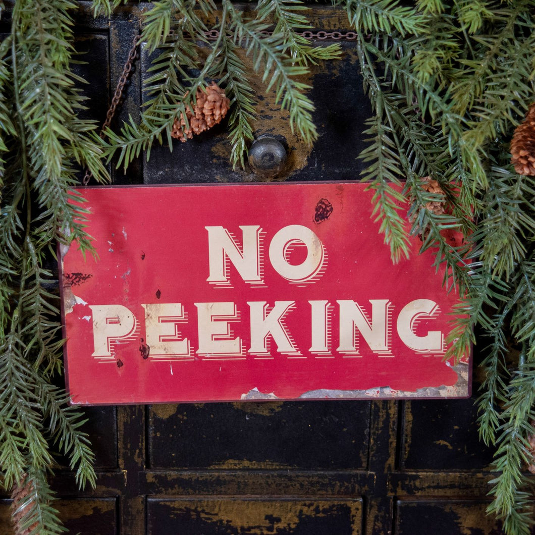 No Peeking Sign