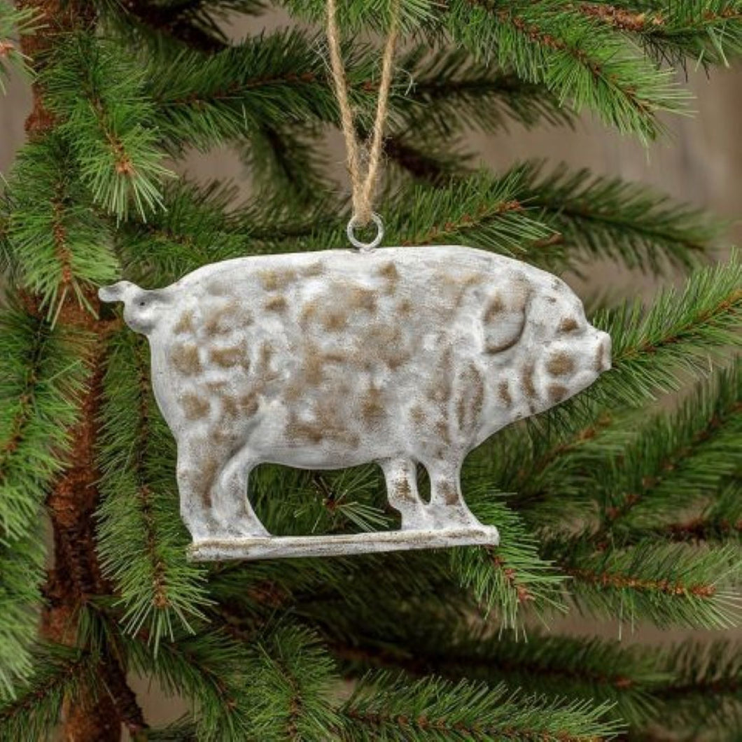 Metal Pig Ornament
