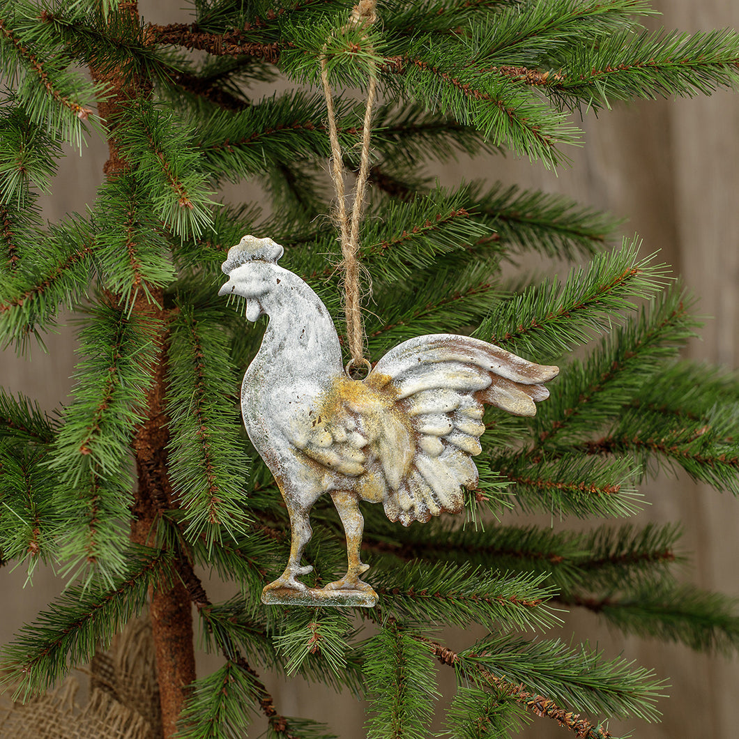 Metal Rooster Ornament