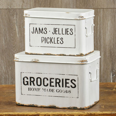 Distressed Grocery Boxes S/2
