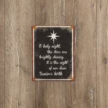 Load image into Gallery viewer, O Holy Night Metal Sign