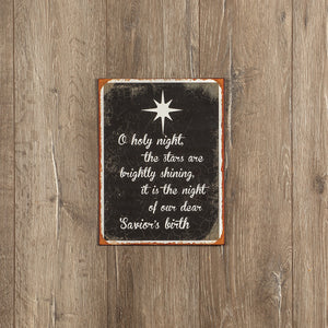 O Holy Night Metal Sign