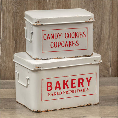 Distressed Bakery Boxes S/2