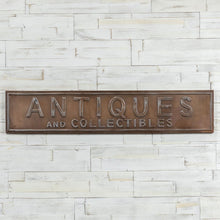 Load image into Gallery viewer, Brass Antiques Sign