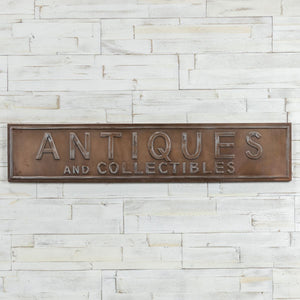 Brass Antiques Sign