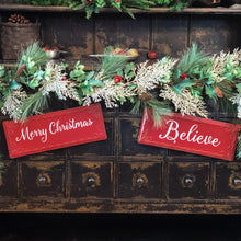 Load image into Gallery viewer, Red Merry Christmas Hanging Sign