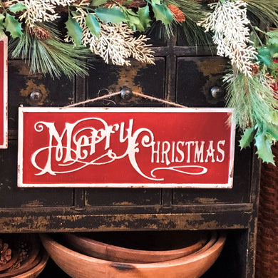 Merry Christmas Script Sign