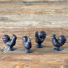 Load image into Gallery viewer, Cast Iron Rooster Placecard Holders, Set of 4