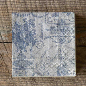French Quarter Blue Paper Beverage Napkins