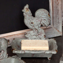 Load image into Gallery viewer, Cast Iron Rooster Soap Dish