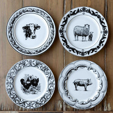 Load image into Gallery viewer, Barnyard Ceramic Dinner Plates, Set of 4