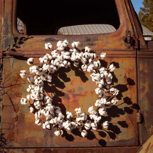 Cotton Wreath 26""