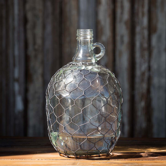 Wine Jug in Poultry Wire