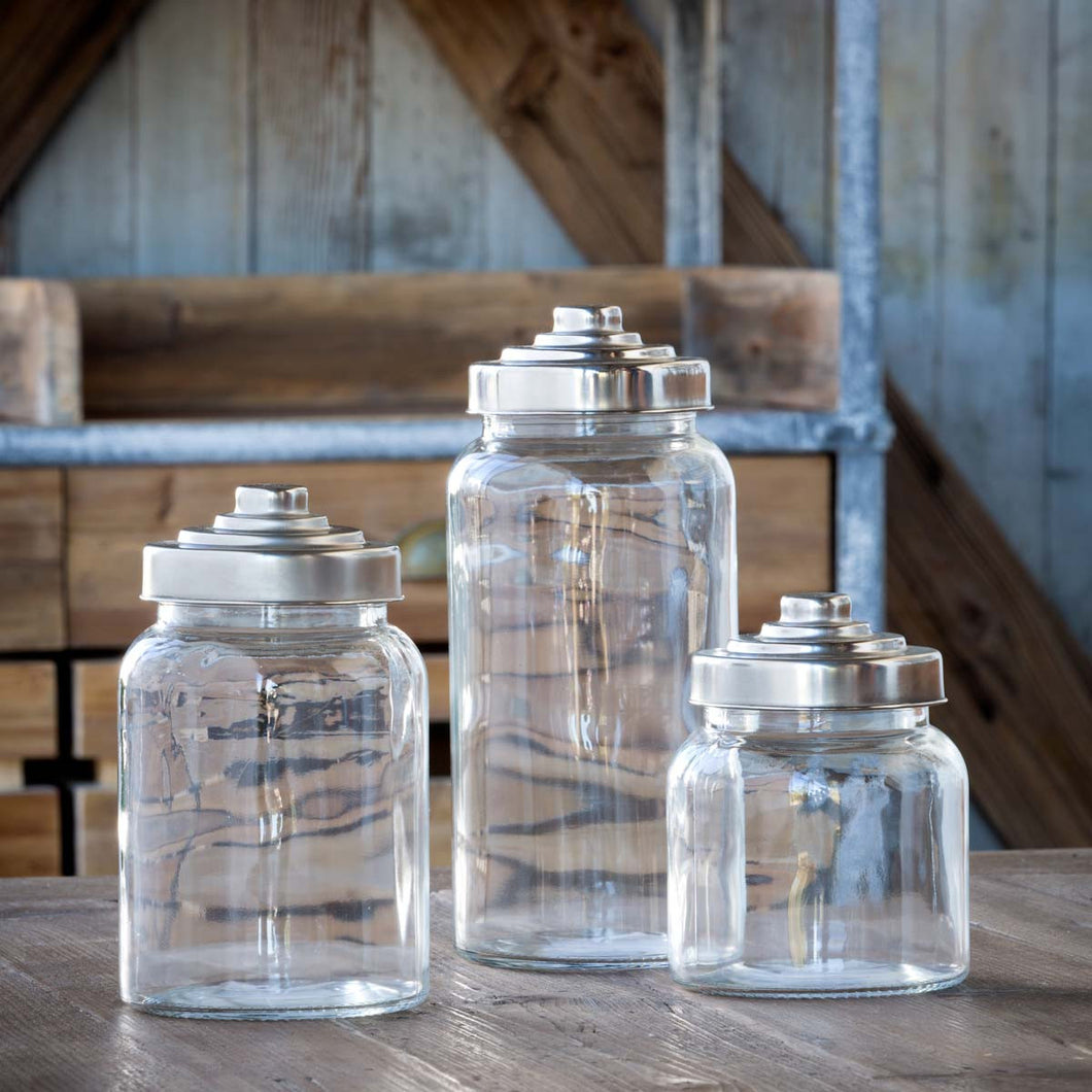 Apothecary Jars, set of 3