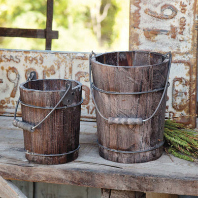 Rustic Buckets Set of 2