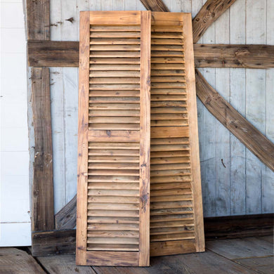 Reclaimed Wood Shutters, pair