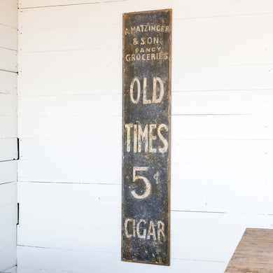 Old Times Cigars Metal Sign