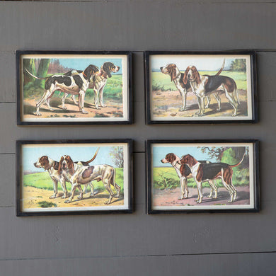Tall Hound Prints, Set of 4